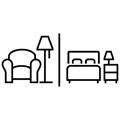 Icon separates Wohnzimmer Bielefeld Hotel Bielefelder Hof