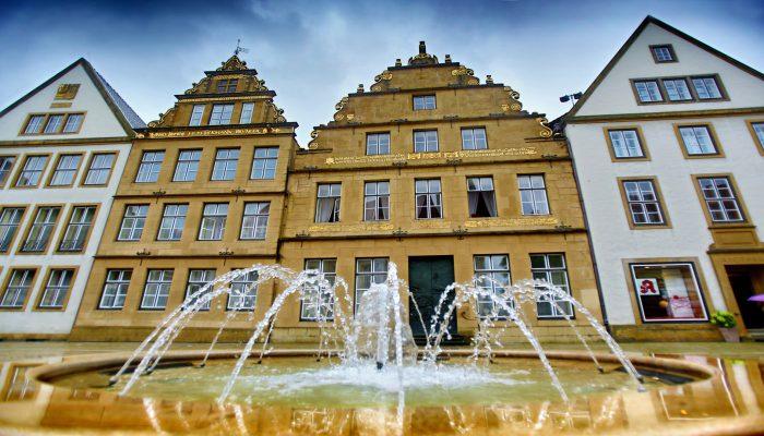 Brunnen Alter Markt Bielefeld Hotel Bielefelder Hof Blog