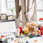 Frühstückstisch Buffet