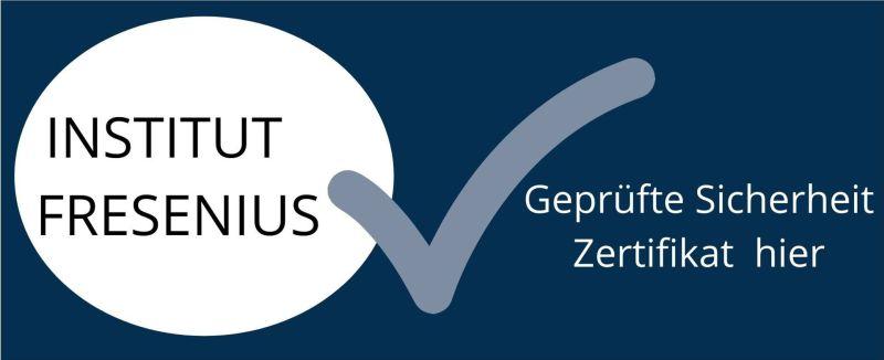 Fresenius Zertifikat Institut Geprüfte Sicherheit